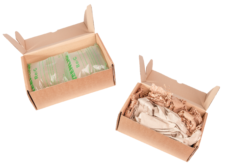 Paper vs air cushions in boxes
